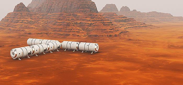Mars exploration graphic